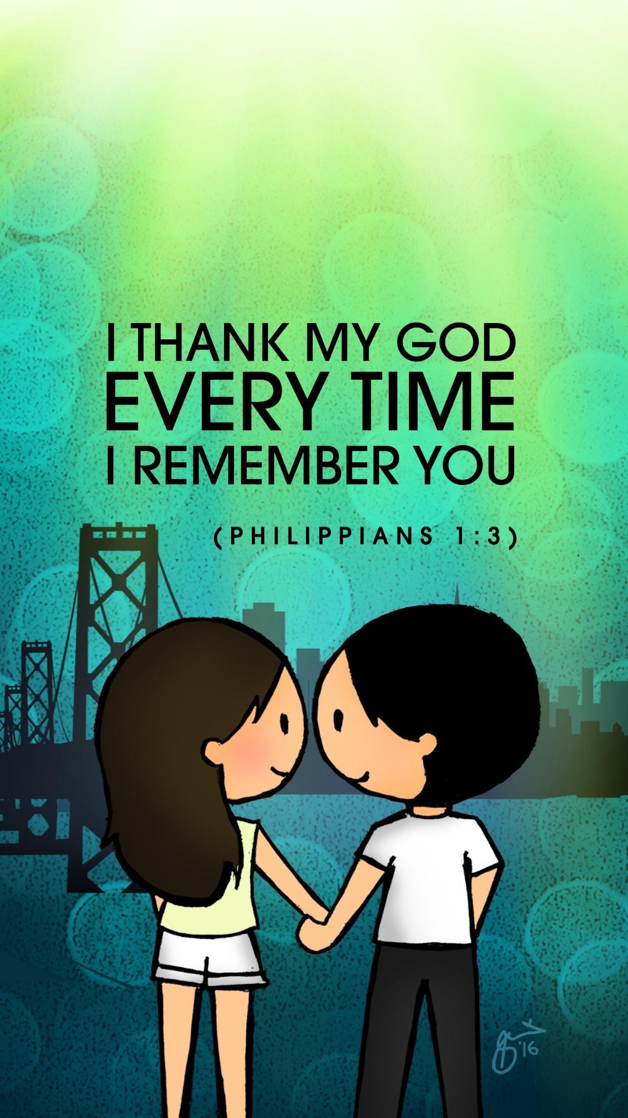 Free Download: Philippians 1:3 Wallpaper